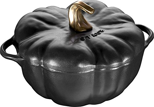 Staub 3.5 Quart Pumpkin Cocotte Black (Cast Iron Pumpkin)