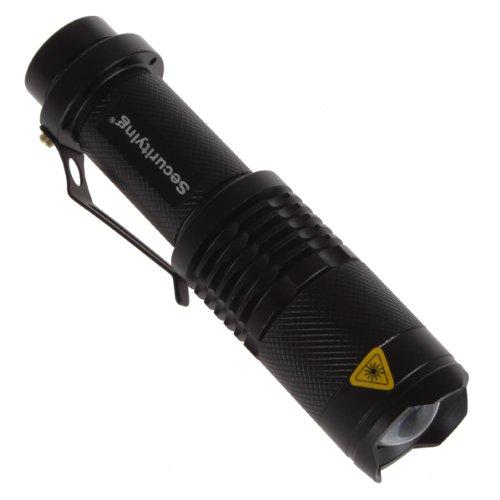 SecurityIng® 3 Modi Zoom Einstellbare XM-L T6 LED 1000Lm Wasserdichte Beleuchtung Lampe Licht Lechte Handlampe Taschenlampe