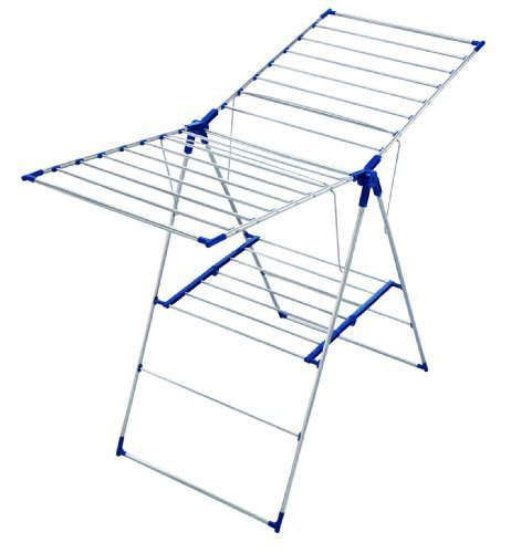 Leifheit Roma 150 Tripod Clothes Drying Rack, Blue and White