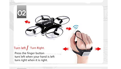 IvyLisprost Observation of Sensitive Intelligent Children's Toys by Four Helicopter Intelligent Suspension Induction Aircraft UAVs with Light Gesture Remote Control-White by IvyLisprost (Image #3)