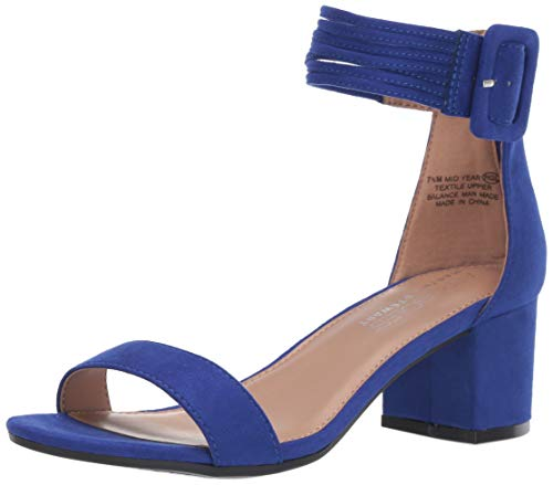 - Aerosoles Women's Martha Stewart MID Year Heeled Sandal, Blue Fabric, 12 M US
