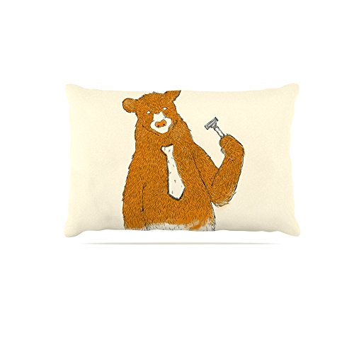 30 by 40\ Kess InHouse Tobe Fonseca Work  Brown Bear Fleece Dog Bed, 30 by 40