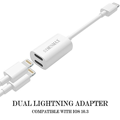 iPhone 7 / 7 Plus Adapter, iPhone 7 Accessories 2 in 1 Lightning Adapter Cable Charge and Headphone Splitter