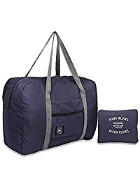 Arxus Travel Lightweight Waterproof Foldable Storage Carry Luggage Duffle Gym Tote Bag (Navy Blue)