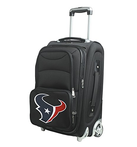 Denco NFL Houston Texans In-Line Skate Wheel Carry-On Luggage, 21-Inch, (21' Expandable 2 Wheel)