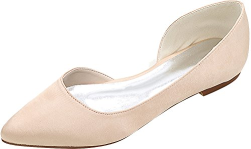 Dress Eu D Pumps Party Simple Wedding Satin orsay Pointed Prom Bride 08 37 Toe Champagne 5 2046 Flats Bridesmaid Work Comfort Ladies Fashion tUqB8xnPw