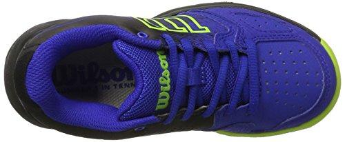 Wilson Wrs321830e125, Scarpe da Tennis Bambini Unisex, Blu (Blue Iris Wil / Black / Granny Green), 31 1/3 EU