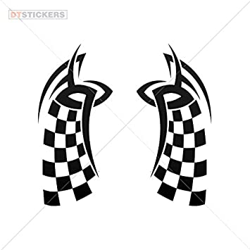 Vinyl sticker decals race design motorcycle vinyl art deco sports bike 11 x 5