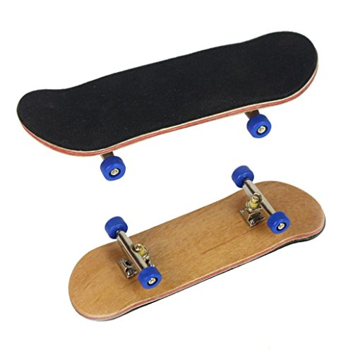 Gbell Mini Fingerboards Finger Skateboard Maple Wood Kids Toy Gifts for Adults Kids Children (Dark Blue)