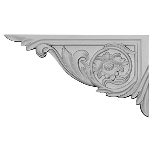 Victorian Vincent Stair Bracket 11 Inch LEFT White Polyurethane M2006L by WI - Molding Victorian