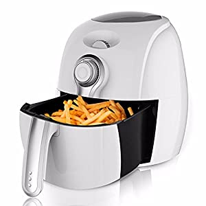 Safflower Will 2.7L Electric Air Fryer Adjustable Frying Machine With Dimension Air Cycle Heating Timing Control For Home Electric Deep Fryer