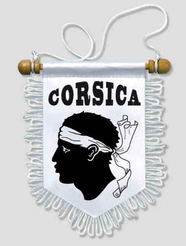 Fanion Voiture Corse Corsica - 13 x 15 cm - Blason Ecusson Football KOO Interactive