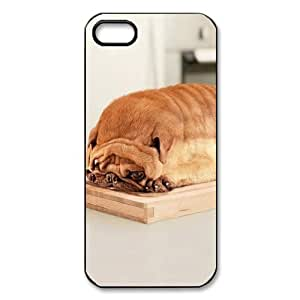Cute Animal Pug Dog Case Custom Plastic Hard Durable Case for Iphone 5 and 5S