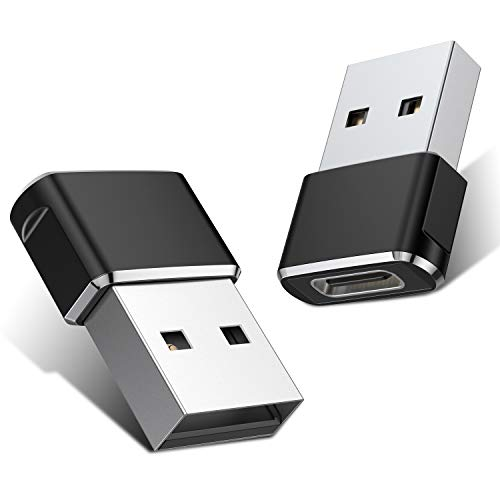 USB C Female to USB Male Adapter (Upgraded Version) (2-Pack)