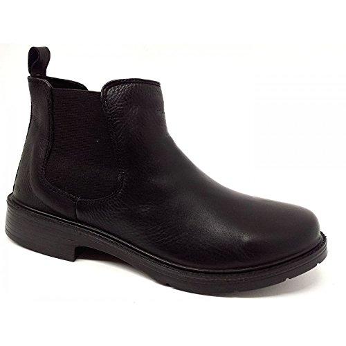 Fly Flot - Zapatillas de Piel para hombre Negro negro