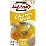 Manischewitz Chicken Broth, 32-Ounce Packages (Pack of 12) by Manischewitz