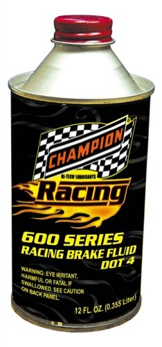 Champion Brands 4059K-CASE-12 'Racing' DOT-4 High Temperature Brake Fluid - 12 oz., (Pack of 12) by Champion