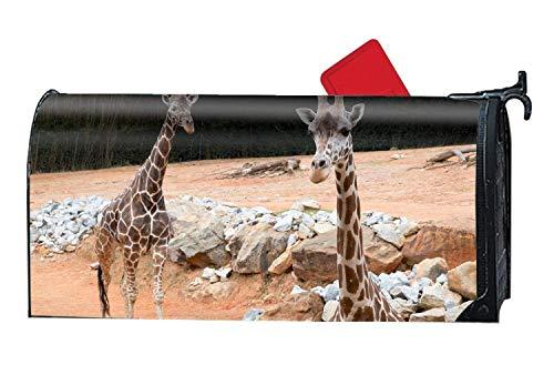"YongSD Fashion Mailbox Makover Cover Giraffe Zoo Atlanta Mailbox Covers Garden,Yard,Home Magnetic 6.5"" W x 19"" L"