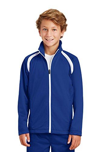Athletic Kids Track Jacket - Sport-Tek 174 Youth Tricot Track Jacket. YST90 Medium True Royal/White
