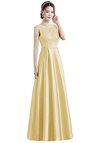 Para Amarillo Vestido Vimans Trapecio 46 Mujer Claro 8wE4IFq4