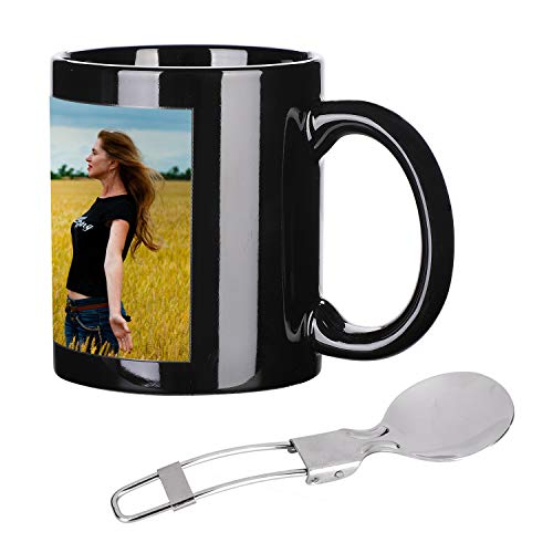 Personalized Photo Cups Coffee Mugs Tea Cups DIY Your Custom Mugs Add Picture Text Logo Day and Night Ceramic Mug Cup Night Light Magic Mugs Birthday -