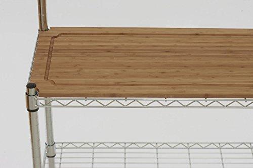 Trinity TBFZ-1501 EcoStorage - Bandeja de panadería de bambú, cromo