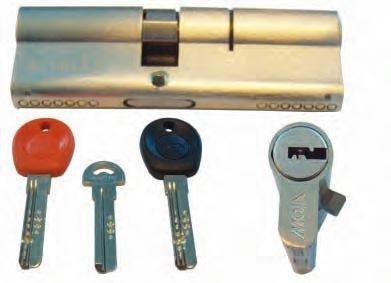 Cilindro a profilo europeo con chiave computerizzata MOIA ad infilare 40-50 mm
