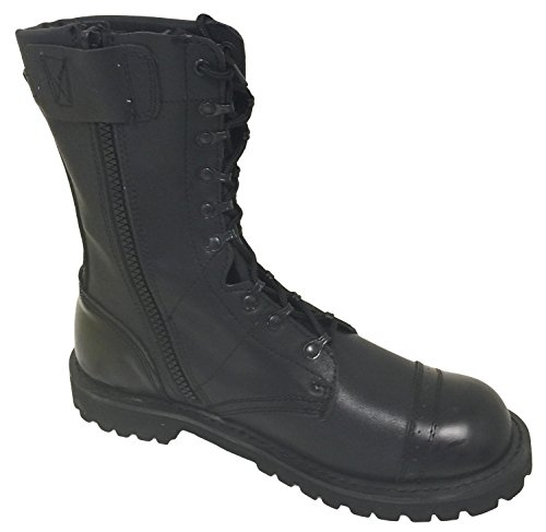 G4U-CLX A1B18V Men's Tactical Boots Leather Black Combat Military 10 Inch Cap Toe Side Zipper Army Work Shoes - stylishcombatboots.com