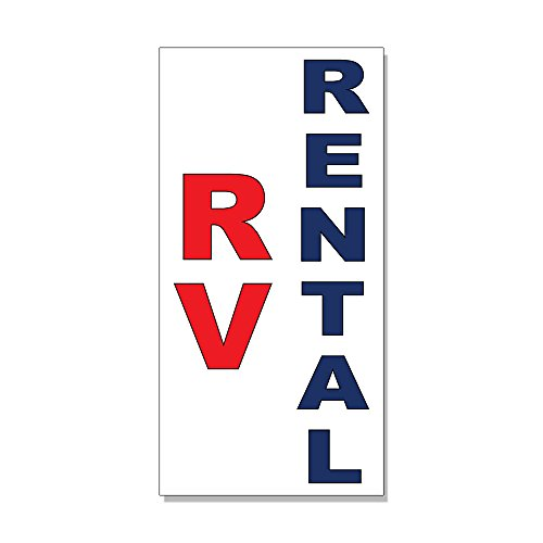 Rv Rental Red Blue Auto Car Repair Shop DECAL STICKER Retail Store Sign -14.5 x 36 inches ()