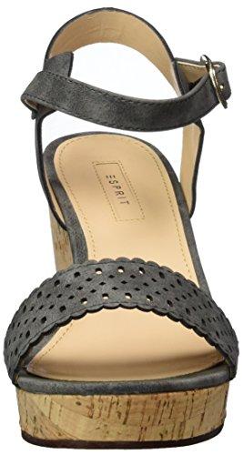Esprit Gessie Sandal, Sandalias con Cuña para Mujer Gris (015 Gunmetal)