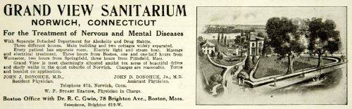 1914-ad-grand-view-sanitarium-norwich-ct-nervous-mental-disease-treatment-health-original-print-ad