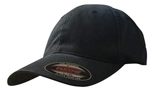 - Flexfit 6997 Low Profile Garment Washed Cotton Cap No Top Button - Small/Medium (Black)
