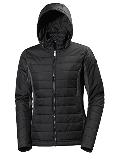 Helly Hansen Women's Astra Hooded Wind Resistant Jacket, Black, S