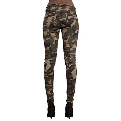 Pantalon Camouflage Army Cut Zhuhaitf Jeggings Pantalon Green Imprim Le Dcontract De Air Out Skinny Designer Plein pour Femme Genou Hw6pqgF