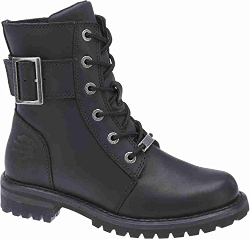 Harley-Davidson Women's SYLEWOOD  Motorcycle Boot, Black, 8 Medium US
