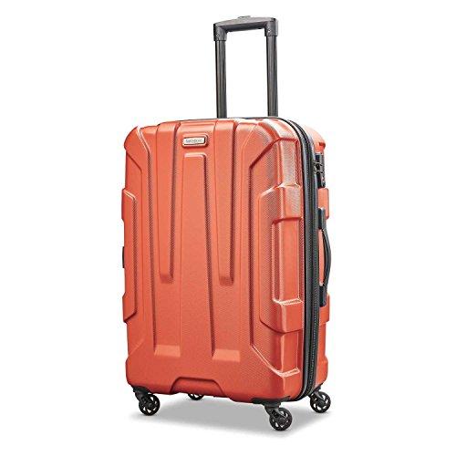 Samsonite Checked-Medium, Burnt Orange (Best 24 Inch Suitcase)