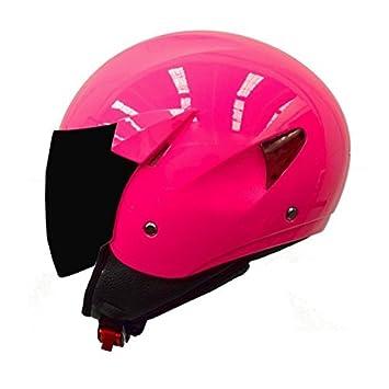 casco moto verano tipo jet mt helmets city sport rosa fluor (XS)