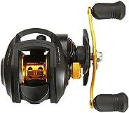Ultra Smooth 17 + 1 BB Baitcasting Fishing Reel Baitcaster 8kg Max Drag 7.2:1 Gear Ratio Magnet Braking System