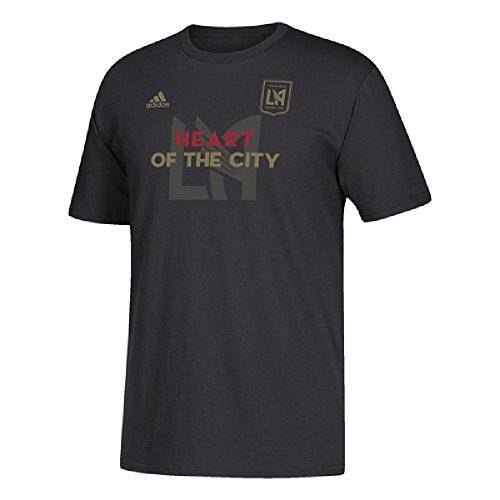 adidas Los Angeles Football Men's Heart of The City T-Shirt Black (X-Large) (World Adidas Cup England)