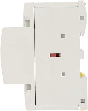 Contactor modular 2P AC230V Contactor de CA 230V 50 2NO 100A de 24 60HZ para el hogar,Contactor de corriente alterna,Vida extra larga,Ultra silencioso,ahorro de energ/ía