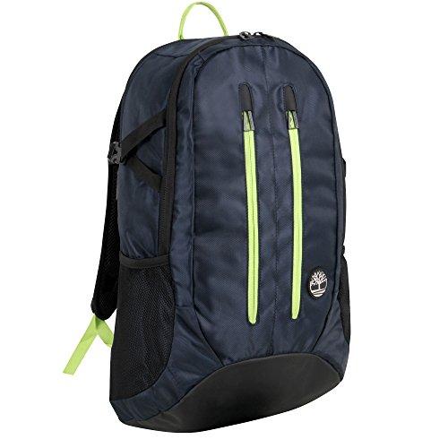 Timberland Mt. Moriah 18 Inch Backpack, Dark Sapphire/Green Glow, One Size