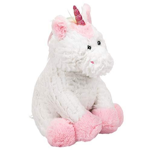 Ganz Plush 11 Inch Pink White Unicorn Coin Bank Stuffed Animal ()