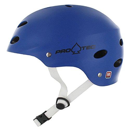 Protec Ace Helmet (X-Large, Matte Blue ) (Helmet Blue X-large Matte)