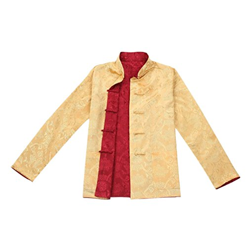 Traditional Mens Suit Coat (Deylaying Men Both Sides Coat Jacket Tang Suit Chinese Tradition Kung FU Shirt)