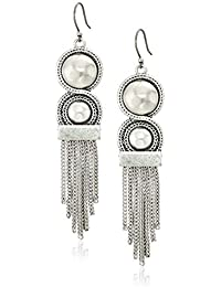 Womens Chain Bead Fringe Earrings