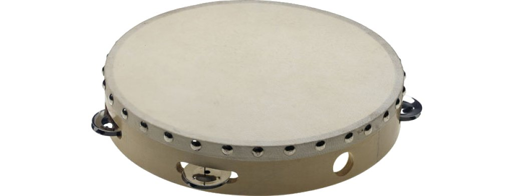 Stagg STA-1110 10'' Pretuned wooden Tambourine w/ rivetted head - 1 row of jingles