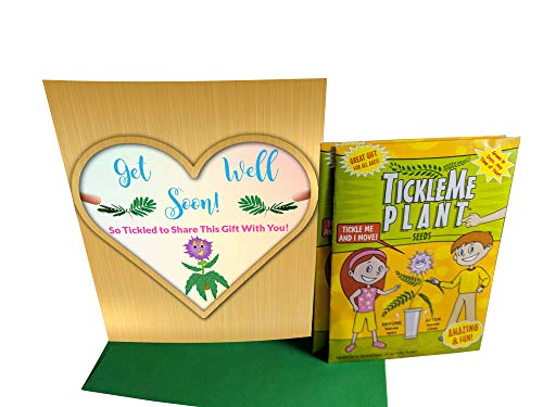 Get Well Soon Greeting Card/TickleMe Plant Seeds. Say