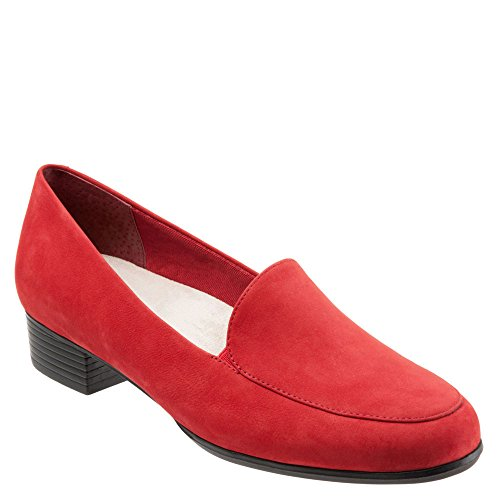 Trotters Womens Monarch Loafer Red Nubuck
