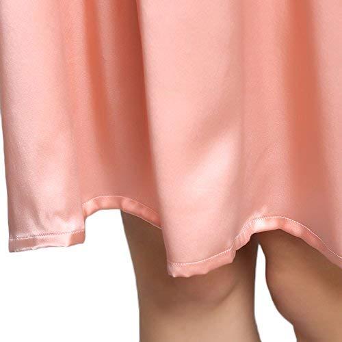 Dormir Pijama Moda Morera Suelta Cómodo Seda Camisón Suave Pijamas Verano Y Manga Ropa De Rosa Corta Señoras Vintage zxXnqSa0wU