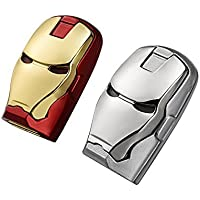 Bundle of 2 Marvel Avengers USB2.0 8GB Sticks Iron man gold/red & Silver War Machine
